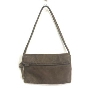 Looks distressed leather shoulder bag